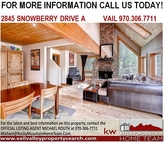 2845 Snowberry Dr A Vail CO, 81657